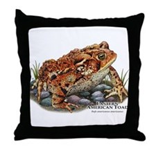 Eastern American Toad Throw Pillow