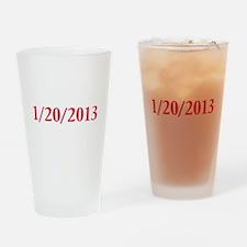 1/20/2013 - Obama's last day Drinking Glass