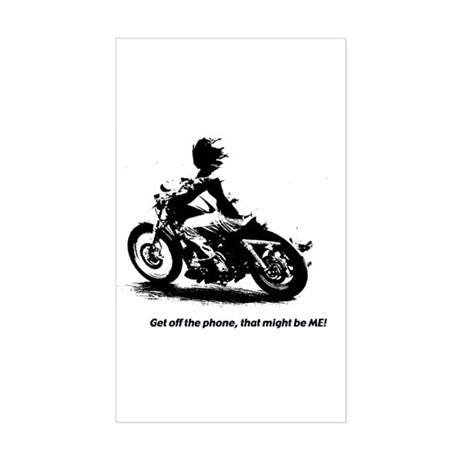 Biker humor, Rectangle Sticker