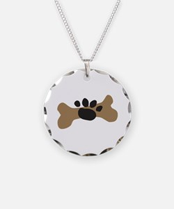 Dog Bone & Paw Print Necklace