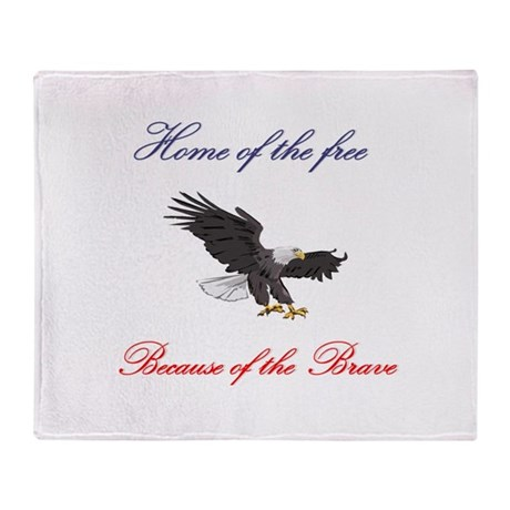 Home of the free... Throw Blanket