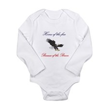 Home of the free... Long Sleeve Infant Bodysuit