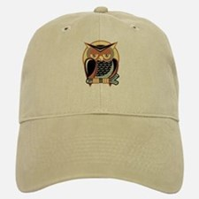 Retro Owl Baseball Baseball Cap