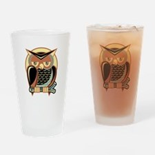 Retro Owl Drinking Glass