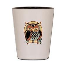 Retro Owl Shot Glass