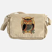 Retro Owl Messenger Bag