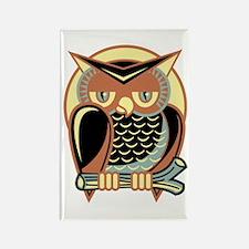 Retro Owl Rectangle Magnet