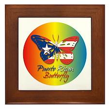 Puerto Rican Butterfly Framed Tile