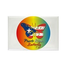 Puerto Rican Butterfly Rectangle Magnet