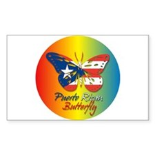 Puerto Rican Butterfly Rectangle Stickers