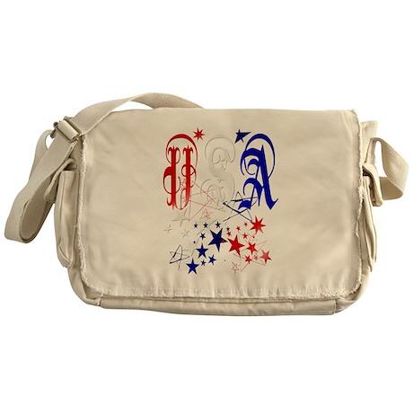 USA with Stars-Celebrate Messenger Bag