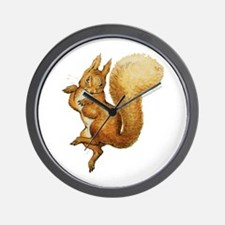 Squirrel Nutkin Wall Clock