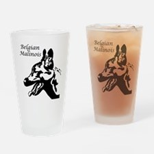 Belgian Malinois Silhouette Drinking Glass