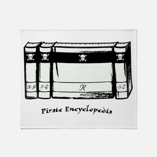 Pirate Encyclopedia Throw Blanket