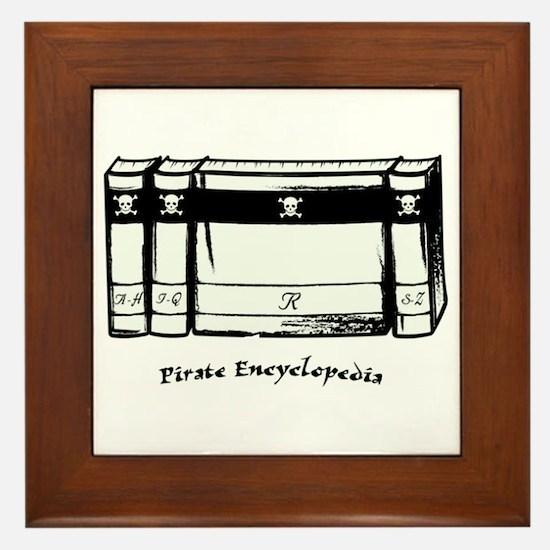 Pirate Encyclopedia Framed Tile