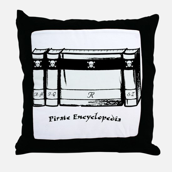 Pirate Encyclopedia Throw Pillow