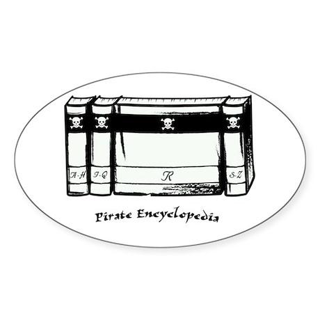 Pirate Encyclopedia Sticker (Oval)