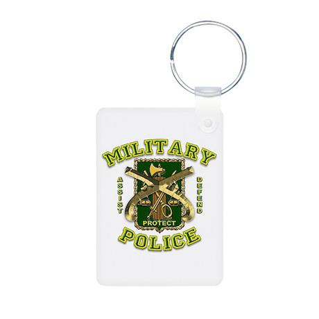 US Army Military Police Gold Aluminum Photo Keycha