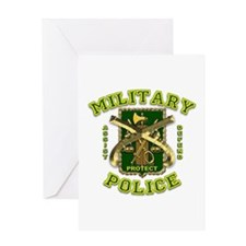 US Army Military Police Gold Greeting Card