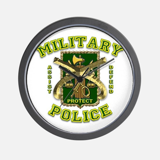 US Army Military Police Gold Wall Clock