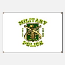 US Army Military Police Gold Banner