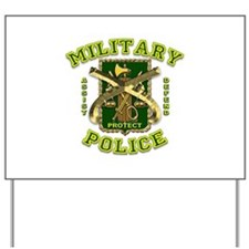 US Army Military Police Gold Yard Sign