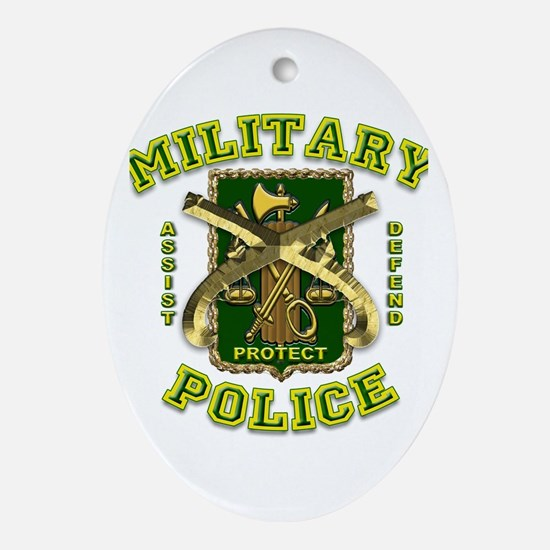 US Army Military Police Gold Ornament (Oval)