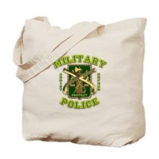 US Army Military Police Gold Tote Bag