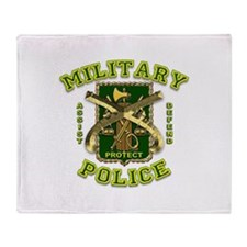 US Army Military Police Gold Throw Blanket