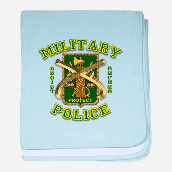 US Army Military Police Gold baby blanket