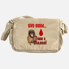 Give Blood, Tease a Malinois Messenger Bag