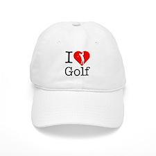 I Love Golf Baseball Cap