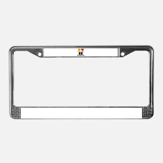 Peace Love Southern Rock License Plate Frame