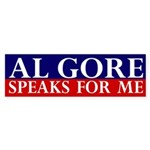Al Gore Speaks for Me (bumper sticker)
