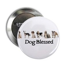 Dog Blessed Button