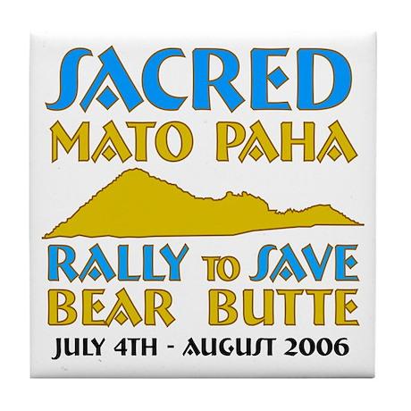 "Save Bear Butte ""Mato Paha"" Tile Coaster"
