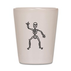 ILY Skeleton Shot Glass
