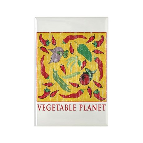 Vegetable Planet Rectangle Magnet