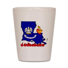 ILY Louisiana Shot Glass