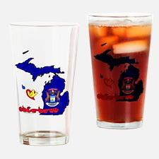 ILY Michigan Drinking Glass