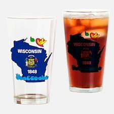 ILY Wisconsin Drinking Glass