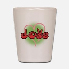 LoveWithHeart Shot Glass