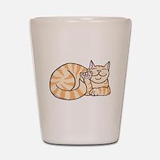 OrangeTabby ASL Kitty Shot Glass