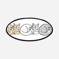 3 ASL Kitties Patches
