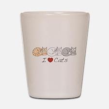 I Heart Cats Shot Glass