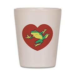 ASL Frog in Heart Shot Glass