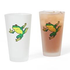 ASL Frog in Flight Drinking Glass
