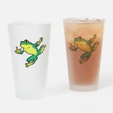ASL Frog in Flight Drinking Glass
