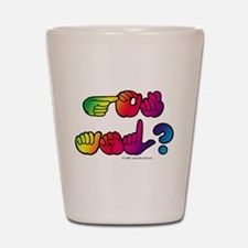 Got ASL? Rainbow SQ Shot Glass