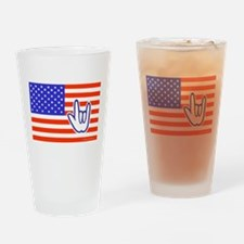 ILY Flag Drinking Glass